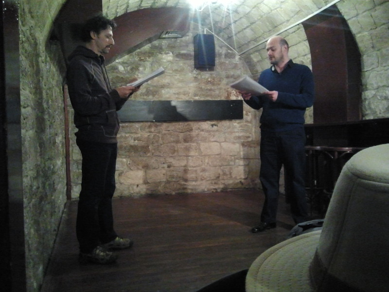 Dario Costa as PETER and James Joint as SAM in Moving Parts reading of Tenebrae in 2013